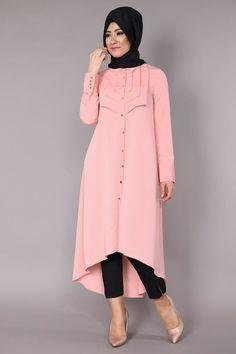 Esrin Önden Düğmeli Peplum Tunik MSW9085 Modesty Fashion, Abaya Fashion, Islamic Fashion, Muslim Fashion, Latest African Fashion Dresses, Women's Fashion Dresses, Modest Dresses, Casual Dresses, Hijab Fashion Inspiration
