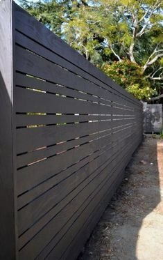 30 Wood Fence Ideas For You In 2019 – Modern fence design Wood Fence Design, Modern Fence Design, Privacy Fence Designs, Modern Landscape Design, Modern Landscaping, Privacy Fences, Modern Wood Fence, Contemporary Landscape, Modern Fence Panels