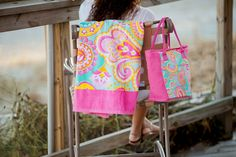 Summer Paisley Cooler Bag Monogrammed | The Preppy Pair