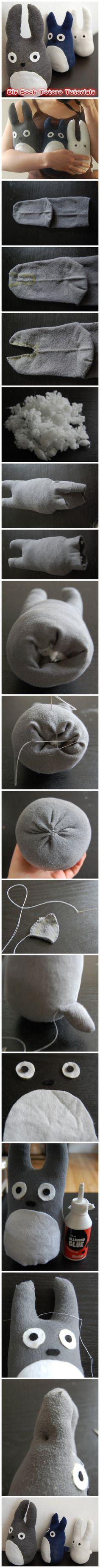 Diy Sock Totoro Tutorials