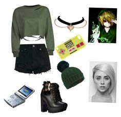 """""""BEN drowned daughter"""" by dorky-demon-blade ❤ liked on Polyvore featuring WithChic, Beauty Secrets, Nintendo, claire's and Miss Selfridge"""