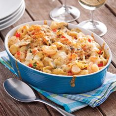 Vous adorez le bon goût de la coquille Saint-Jacques, mais avez rarement le temps d'en préparer? Essayez vite ce gratin de pâtes aux fruits de mer!