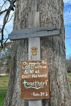 """But with the """"we love because he first loved us"""" scripture. And without the weird face thing. Wedding Reception Flowers, Reception Decorations, Wedding Bells, Wedding Signs, Our Wedding, Dream Wedding, Scripture Crafts, Rustic Barn, Rustic Cross"""
