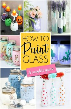Foam Crafts, New Crafts, Crafts For Kids, Family Crafts, Painting Glass Jars, How To Paint Glass, Edible Crafts, Painting Tips, Painting Pictures