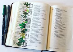 What a cute Bible Journaling idea with the little plants!