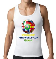 World Cup 2014 Soccer Ball White Mens T-Shirt or Tank Top