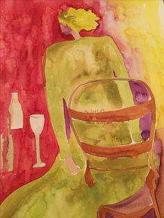 "PENELOPE CHIUSANO ""1st 24,"" Watercolor, 24"" x 18"""