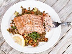 Losos s karfiolovým šalátom Risotto, Beef, Ethnic Recipes, Lifestyle, Fitness, Meat, Steak