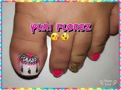 Toe Nail Color, Toe Nail Art, Nail Colors, Heart Nail Designs, Toe Nail Designs, Pedicure Designs, Feet Nails, Cute Toes, Manicure