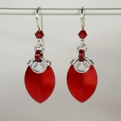 Simple scale earrings, red                                                                                                                                                                                 More