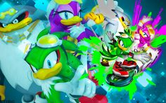 The Babylon Rogues - Wallpaper by SonicTheHedgehogBG on DeviantArt The Sonic, Sonic The Hedgehog, Rogues, A Table, Deviantart, Wallpaper, Friends, Disney Characters, Artist