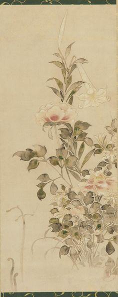 Tattoo Inspiration & Ideas - Japanese Art | Tawaraya Sotatsu - Peonies and Lilies. #Japanese #Flowers