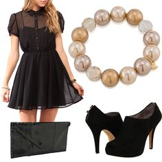 Every all black outfit needs a little something to spice it up!