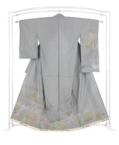 【蘇州刺繍】 創作紬訪問着 「五重塔」(八掛なし) ≪淑やかな刺繍美。大人のお洒落キモノ。≫|京都きもの市場