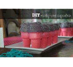 my{DIY}habits: {DIY} Microphone Cupcakes...Rock-N-Roll!!!