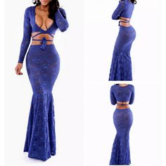 2 Piece Solid Color Deep V-Neck Long Sleeve Dress ($15.75) http://www.clubwholesale.net/women-dresses/bandage-dresses
