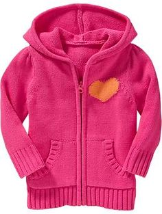 Zip-Front Hooded Sweaters for Baby | Old Navy