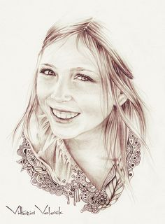 Original Custom Portrait Pencil Drawing from your photo, Sketch, Portraits by commission, Original artwork with doodles, FREE Digital Format...