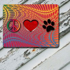 Mousepad Peace Love Paw  on Durable Rubber by EastCoastDyeSub