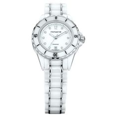 $699 (was $1,199) Ladies Watch with Diamonds in White Ceramic & Stainless Steel @ Michael Hill - Bargain Bro