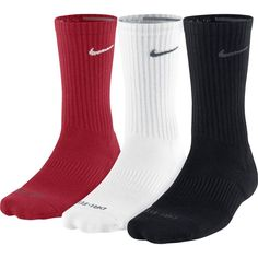 Nike Dri-FIT Cushion Crew Training Sock Pair) - to deal coupon Dri Fit Socks, Crew Socks, Nike Elite Socks, Athletic Socks, Nike Fashion, Nike Sportswear, Nike Dri Fit, Cute Outfits, Unisex