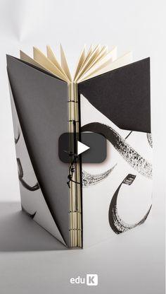 Neste curso, você vai aprender tudo para produzir peças únicas - das capas e acabamentos até as costuras - além de muitas outras possibilidades para suas próprias criações. Book Projects, Diy Craft Projects, Crafts, Book Design, Web Design, Japanese Binding, Homemade Books, Accordion Book, Bookbinding Tutorial