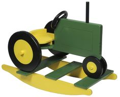 Tractor Rocker : : Youth Furniture : Rocking Horses : Stone Barn Furnishings, Inc. Woodworking Basics, Woodworking Patterns, Woodworking Furniture, Woodworking Classes, Rocking Horse Plans, Rocking Horses, Diy Wood Projects, Wood Crafts, Wood Toys Plans