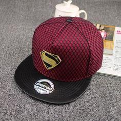 2016 New Fashion Summer Brand Superman Baseball Cap Hat For Men WomenTeens  Casual Bone Hip Hop Snapback Caps Sun Hats dedc2f10cbdd