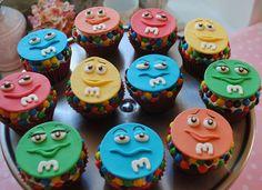Custom Fondant M Character Cupcakes!!!!