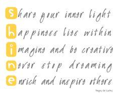 Day 14 of #30DaysofCreativity - Always Shine!!  @createstuff