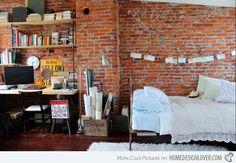 Estilo industrial en un dormitorio urbano ¡Genial!