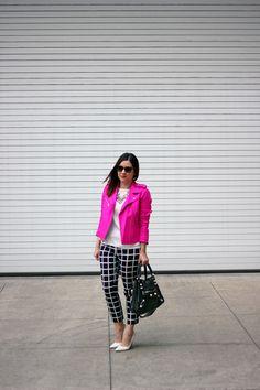 Pink Moto Jacket. #style#lookbook
