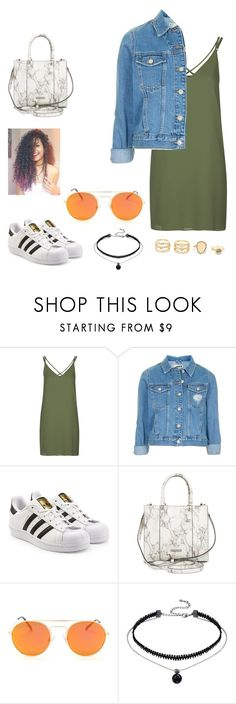 """Summer"" by shania-collier on Polyvore featuring Topshop, adidas Originals, Rebecca Minkoff and LULUS"