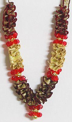 Artificial Flower Garland (Satin Ribbon)