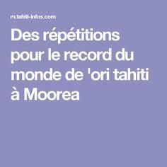 Des répétitions pour le record du monde de 'ori tahiti à Moorea