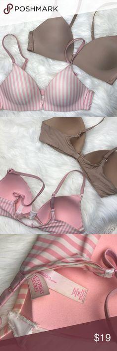9bba73b705 Victoria Secret Bundle Victoria Secret Bundle 1 nude colored 1 pink stripes  both included for the price no wire bra PINK Victoria s Secret Intimates ...