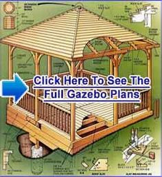 Timber frame gazebo plans gazebo pinterest gazebo for Build your own gazebo free plans