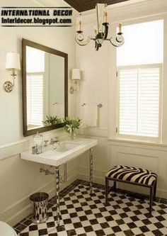 Image result for classic black and white bathroom hexagonal tiles