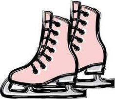 vector illustration of ice skating shoes stock illustration rh pinterest co uk