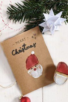 Weihnachtsmann Kartoffeldruck - Weihnachtskarten basteln: Mit dem Kartoffelstempel Weihnachtsmann lassen sich nicht nur Weihnachtskarten bedrucken, sondern auch Geschenkpapier selber machen oder weihnachtliche Geschenktüten gestalten.