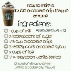 I love Starbucks frappes. This way you don't have to go to Starbucks and get a great frappe at home. Starbucks Frappuccino, Starbucks Drinks, Coffee Drinks, Iced Coffee, Coffee Art, Coffee Break, How To Make Frappuccino, Morning Coffee, Starbucks Hacks