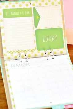 DIY Calendar - Recollections Calendar Kit - A Pumpkin And A Princess