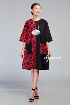 batik dress African Print Dresses, African Print Fashion, African Fashion Dresses, African Wear, African Dress, Batik Blazer, Blouse Batik, Batik Dress, Amarillis