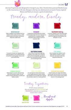 SCENTSY SPRING / SUMMER 2016 CATALOG NEW FRAGRANCE RELEASES