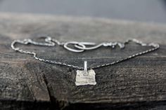 Textured Sterling Silver Pendant Necklace