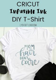 Cricut Infusible Ink transfer t-shirt. If you are looking for cricut projects or ideas, look no further. This diy tutorial walks you through step by step. Easy enough to understand for beginners. Master this new method and you'll have the best shirts around. #cricutinfusion #cricutinfusionink #cricutprojects #cricutideas #diytshirts @lydioutloud