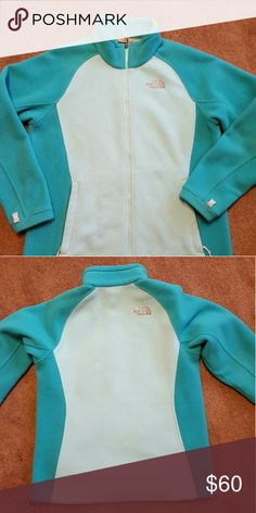 North Face fleece jacket North Face zip up fleece jacket mint green color North Face Jackets & Coats Utility Jackets