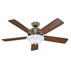 HunterBrookline 52 in. Antique Brass Ceiling Fan/ right color blades, right color housing.