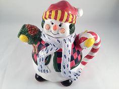 Snowman Christmas Teapot