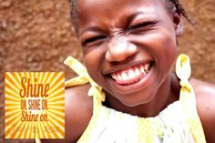 Get ready to change the world! Look at this beautiful child of God and help her life SHINE ON!!!  therainingseason.org